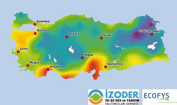 Türkiye için U-Değerleri Haritaları 1. Bölüm