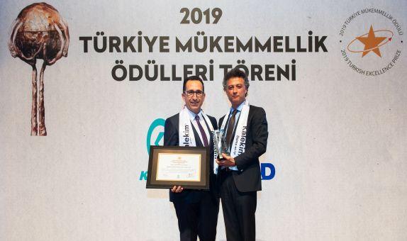 Kalekim Türkiye 2019 Mükemmellik Ödülü Aldı
