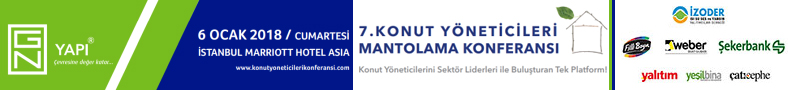 7.KONUT YÖNETİCİLERİ MANTOLAMA KONFERANSI | 6 Ocak 2018 Cumartesi | İstanbul Marriott Hotel Asia